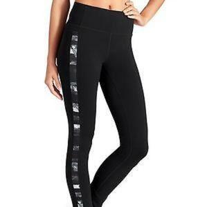 Athleta floral flow skinny up black leggings